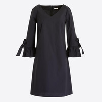 Ruffle tie-sleeve dress