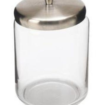 Glass Jar with Brushed Metal Top (tall)