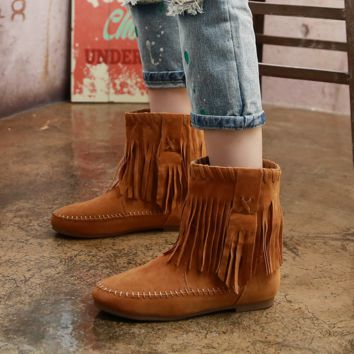 Womens Tassel Winter Warm Boots