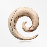 A Pair of Organic White Tamarind Wood Spiral Taper