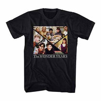 The Wonder Years Family Collage Black T-Shirt