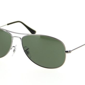 Cheap Ray-Ban Cockpit RB3362 004 Gunmetal Frame Green Classic 56mm Lens Sunglasses