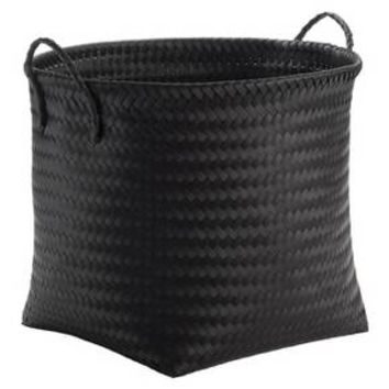Large Round Woven Plastic Storage Basket - Black - Room Essentials™ : Target