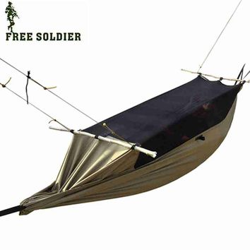 Free soldier Outdoor Multifunctional Portable Camping Tent Hammock Anti-mosquito Waterproof Hanging Bed
