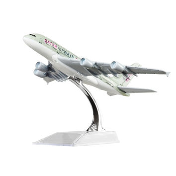 Qatar Airways Company Q.C.S.C. A380 16cm Model Airplane Kits Birthday Gift Plane Models Toys Christmas gift