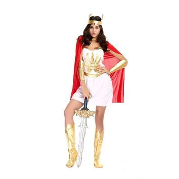 Greek Costumes For Women Sexy Goddess Costume 2016 Halloween Fancy Dress Roman Greece Warrior Cosplay Clothes Women