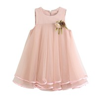 2017 Flower Baby Girl Summer Princess Dress Kids Baby Party Wedding Tulle Tutu Dresses Birthday Wedding Party Mesh Dress