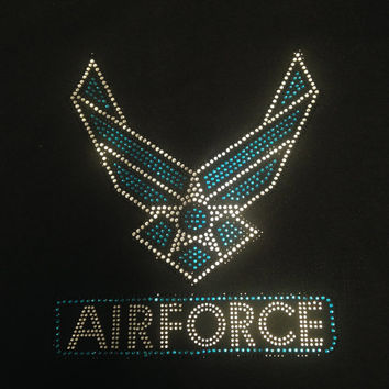Air Force Rhinestone Tank Top/Shirts/Sweatshirts (Customizable)
