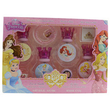 Disney DISNEY PRINCESS EDT SPRAY 4 X 1 OZ & LIP GLOSS & GLITTER STICKERS & BRACELET & RING WOMEN