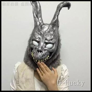 DCCKNY6 Free shipping Halloween Party Cosplay Donnie Darko Rabbit Mask Scary Animal Full Head Horror Mask Zombie Devil Skull Mask Toys