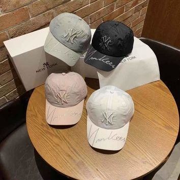 """""""New York Yankees"""" All-match Simple Letter Embroidery Baseball Cap Couple Peaked Cap Sun Hat"""