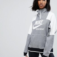 Nike Archive Half Zip Pullover Sweatshirt In Grey at asos.com