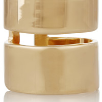 Jennifer Fisher - Double Band gold-plated ring