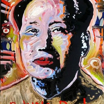Colorful Pop Art Painting 16x20 Canvas Painting Canvas Art Andy Warhol Inspired Asian Art Asian Decor Chinese Art Chinese Decor
