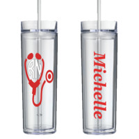 Stethoscope Personalized Tumbler-Free Shipping!