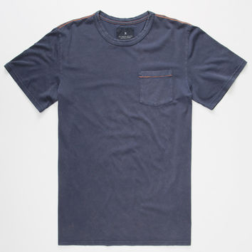 Roark Well Worn Mens Pocket Tee Navy  In Sizes
