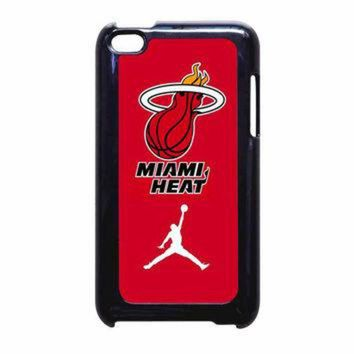 DCKL9 Miami Heat With Nike Jordan iPod Touch 4th Generation Case