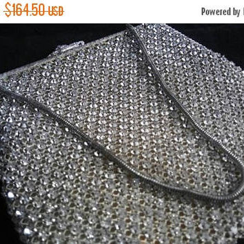 On Sale Art Deco Rhinestone Mesh 1930's Purse - Vintage Evening Handbag