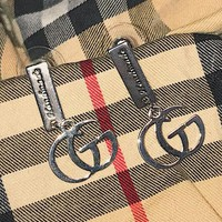 GUCCI Fashion New Letter Long Earring Women Accessories Silver