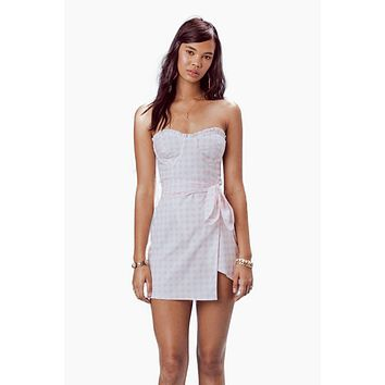 Dixie Mini Dress - Pink Gingham