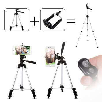43 inch Phone Holder with Remote Mobile Phone Tripod Stand for iPhone 7 6 6S Plus 5S Xiaomi Samsung Galaxy HTC for Fishing Lamp