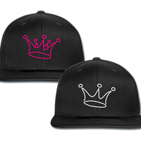 king for him for her couple matching snapback cap