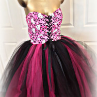 Adult tutu, Hello Kitty tutu dress, Sweet 16 Hello Kitty birthday, pink black hello kitty, adult hello kitty tutu