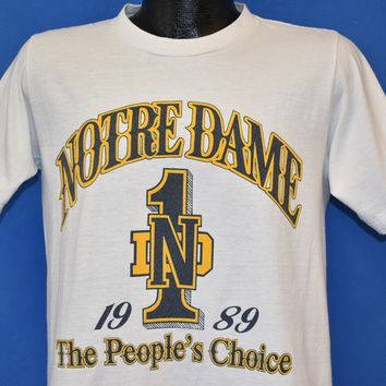 80s Notre Dame Fighting Irish People's Choice 89 t-shirt Small