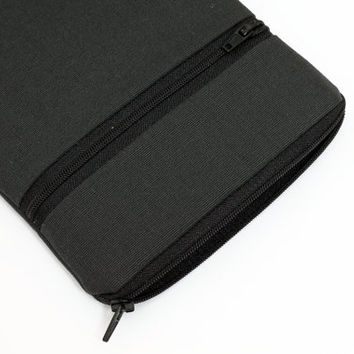 Kindle Paperwhite case, Kobo Glo zipped sleeve, Apple ipad mini cover with front pocket - solid gray