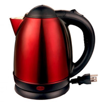 Brentwood 2.0L Stainless Steel Electric Cordless Tea Kettle 1000W (Red)