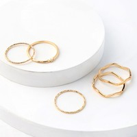 Flawless Finish Gold Ring Set