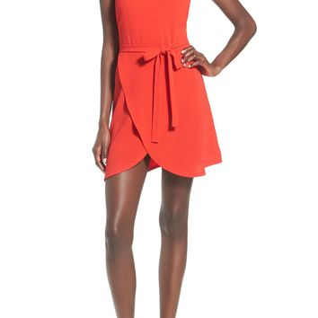 June & Hudson Strappy Tulip Hem Minidress | Nordstrom