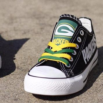 Green Bay Packers Custom Canvas Shoes