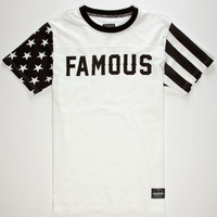 Famous Stars & Straps Claim Striper Mens T-Shirt White  In Sizes