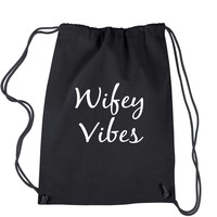 Wifey Vibes Drawstring Backpack