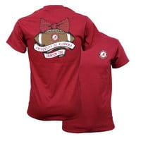 Southern Couture Alabama Crimson Tide Vintage Football T-Shirt