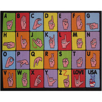 Fun Rugs Fun Time Collection Sign Language Area Rug