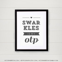 Swarkles is my OTP - 11x17 custom typography print - inspirational quote - how i met your mother - himym - college dorm decor - modern print