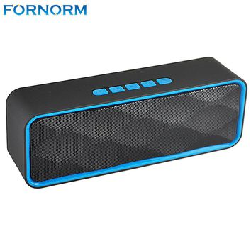 Fornorm Wireless Bluetooth Speakers Portable 6W Bass Soundbar Handsfree support TF card/Aux Loudspeaker HIFI Stereo Bass