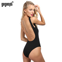 Gagaopt  Backless Bodysuit Women 95% Cotton Sexy Romper Summer overalls White/Black Jumpsuit Combinaison femme Salopette