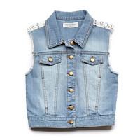 Denim & Lace Vest (Kids)