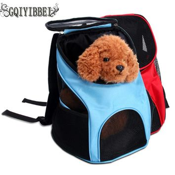 Breathable Outdoor Pet Dog Cat Carrier Mesh Backpack Bags Portable Puppy Cat Backpack Travel Oxford Cloth Bag Outdoor Pet Packs