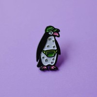 Chill Penguin Enamel Pin