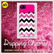 New!!!!! Dripping Chevron Pink - for iphone by Simone Morana Cyla