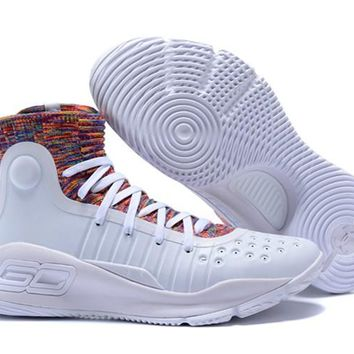 2018 Under Armour Curry 4 White Multicolor - Beauty Ticks