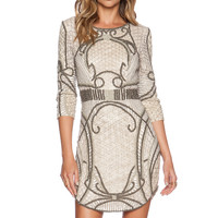 Parker Black Harley Sequin Dress in Nude