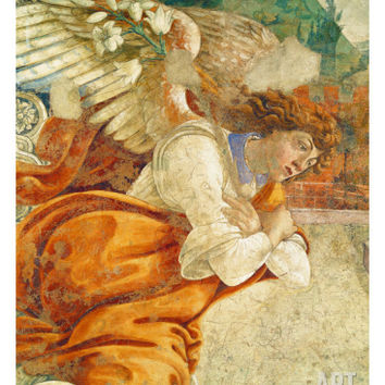 The Annunciation, Detail of the Archangel Gabriel, from San Martino Della Scala, 1481 Giclee Print by Sandro Botticelli at Art.com