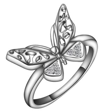 Zircon Butterfly Crystal Ring