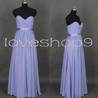 Long Lavender Prom Dresses Sweetheart Bridesmaid Dresses Party Dresses Homecoming Dresses 2014 New Custom Made