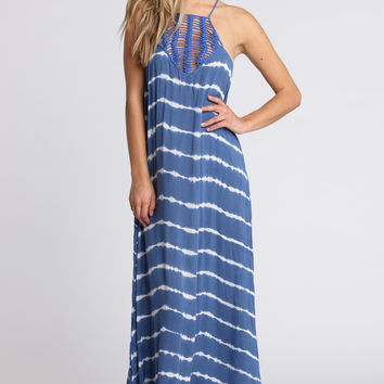 Moscow Maxi Dress in Pacific Tides